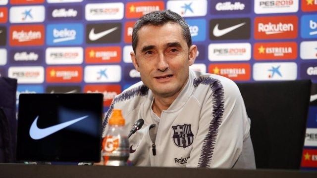 L'entrenador del FC Barcelona, Ernesto Valverde (foto d'arxiu)