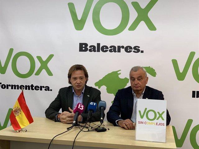 Líder de Vox en Baleares, Jorge Campos, y Fulgencio Coll, candidato a la alcaldí
