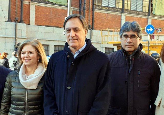 García Carbayo (centro) este viernes.