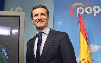 """Casado: """"Els espanyols hauran de triar entre un model que negociï amb Torra o que lideri l'aplicació del 155"""" (Ricardo Rubio - Europa Press)"""