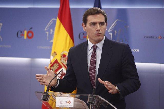Declaraciones del líder de Ciudadanos, Albert Rivera, tras la convocatoria del G