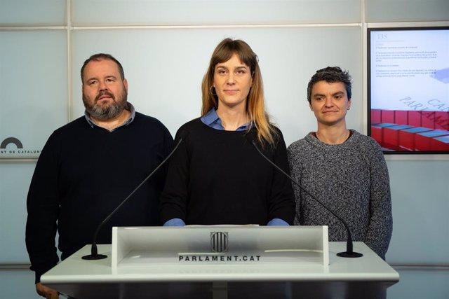 Joan Mena, Jéssica Albiach, Lucía Martín