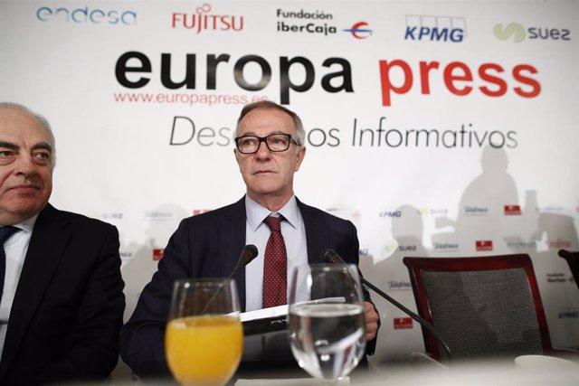 El ministro de Cultura y Deporte, José Guirao, en un reciente Desayuno Informati