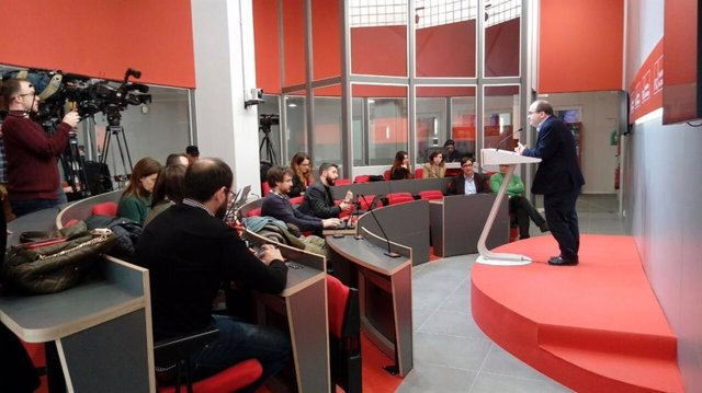 Miquel Iceta (PSC) en rueda de prensa