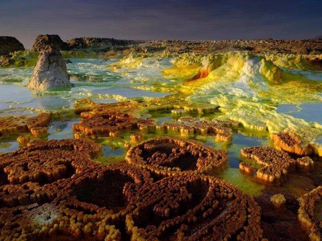 Sistema hidrotermal extremo de Dallol, en Etiopía