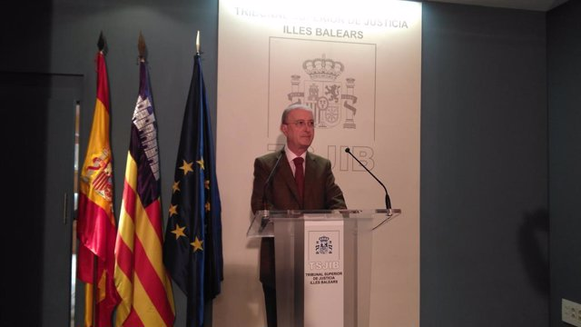 El president del Tribunal Superior de Justícia de Balears, Antoni Terrassa