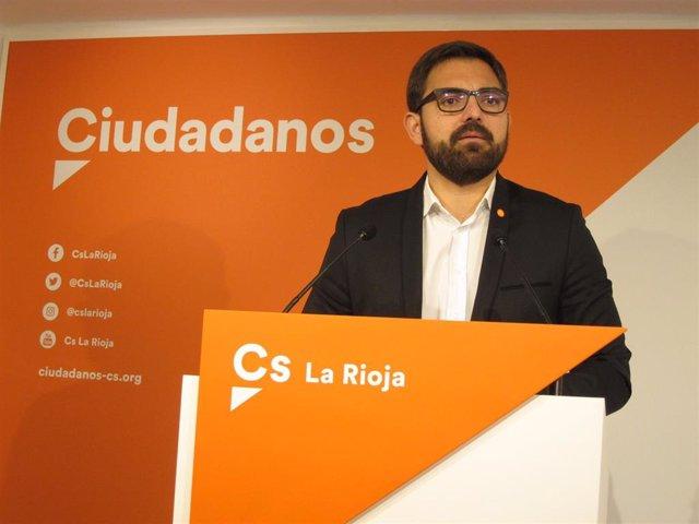 El portavoz de Cs en La Rioja, Diego Ubis