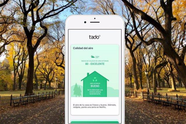 La 'app' tado proporcionará informacíon y consejos para mejorar la calidad del a