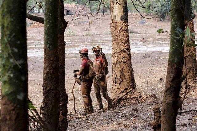 Derrumbe de una presa en Brasil