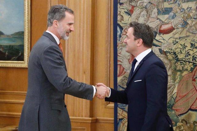 El Rey con el primer ministro de Luxemburgo