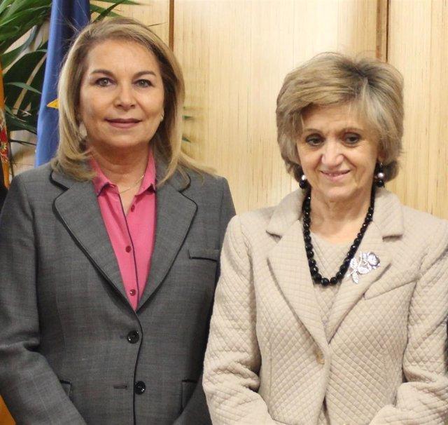 Cristina Contel y María Luisa Carcedo