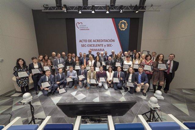La Sociedad Española de Cardiología (SEC) acredita la calidad asistencial de 37