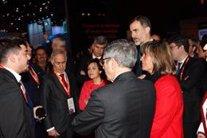 El rei Felip VI inaugura el Mobile World Congress 2018, en una foto d'arxiu.