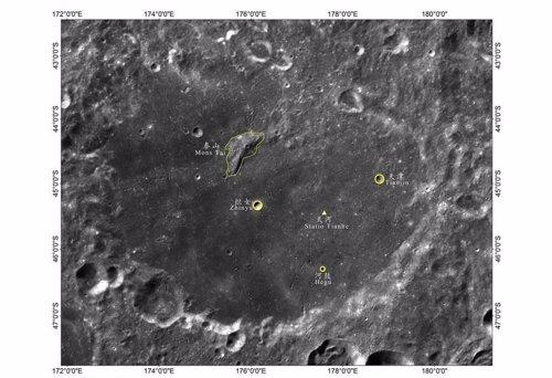 Localizaciones que han recibido denominación china en la cara oculta de la Luna