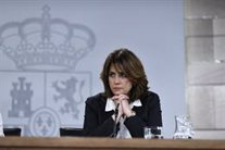Dolores Delgado en la roda de premsa posterior al Consell de Ministres