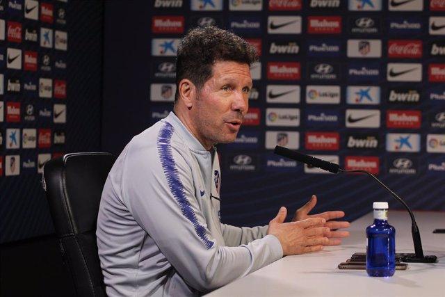 Soccer: La Liga - Training day -Atletico de Madrid