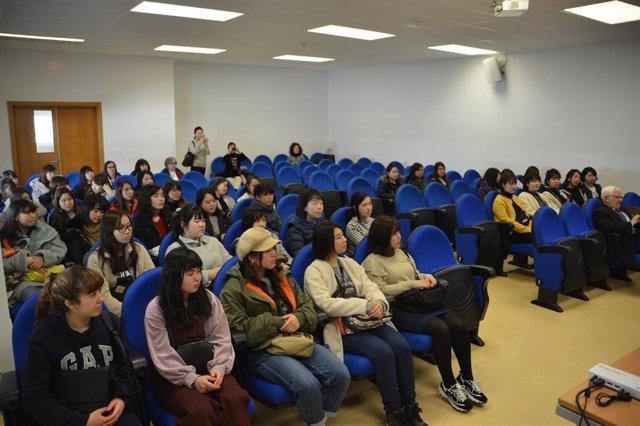 Un grupo de universitarias japonesas, en Soria