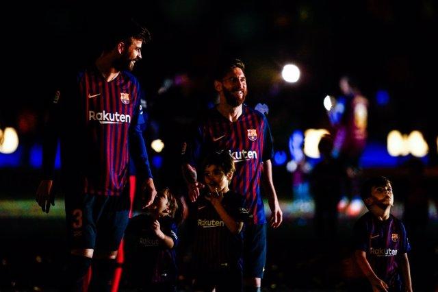 Gerard Piqué Leo Messi Barcelona