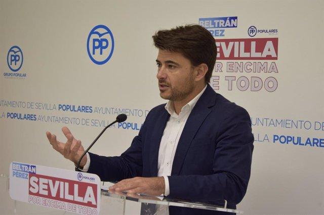 El portavoz del PP en Sevilla, Beltrán Pérez, en una imagen de archivo