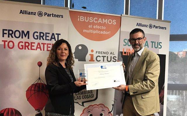 COMUNICADO: La Asociación Freno al Ictus entrega a Allianz Partners el sello 'Brain Caring People Empresa'