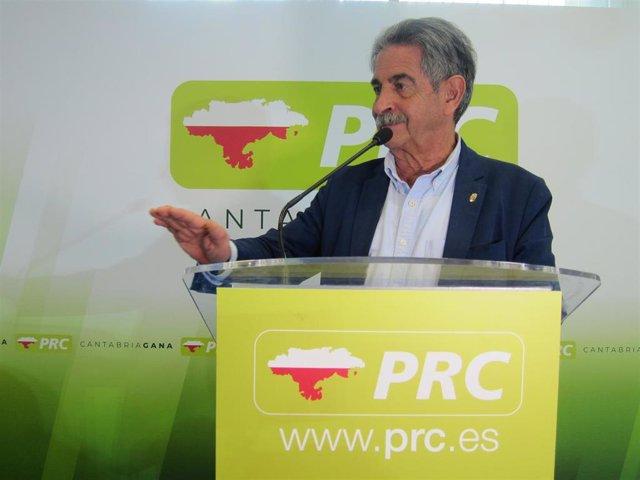Miguel Ángel Revilla, secretario general del PRC
