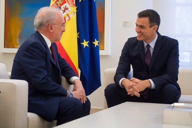 Santiago Muñoz Machado se reúne con el presidente del Gobierno Pedro Sánchez