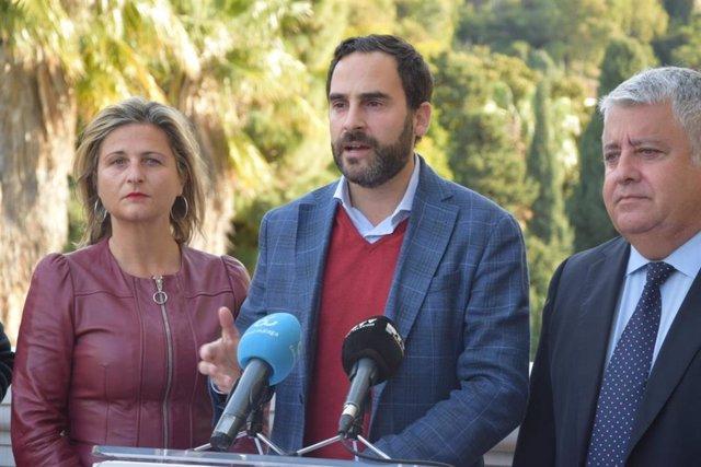 Daniel Pérez y Salvador Trujillo, rueda de prensa del PSOE De Málaga