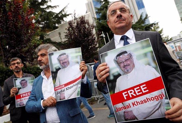 Protesta por la desaparición de Yamal Jashogi