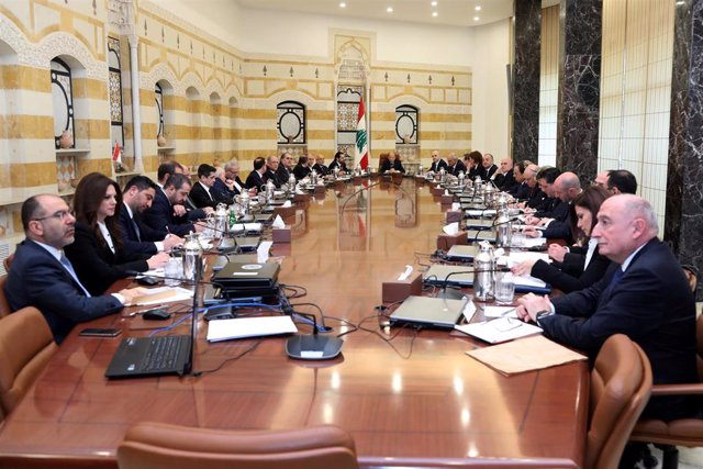 First cabinet meeting of Lebanese National Unity government