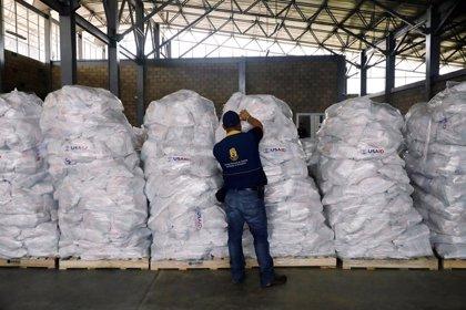 EEUU enviará este sábado un segundo lote con 250 toneladas de ayuda humanitaria a la frontera de Venezuela con Colombia