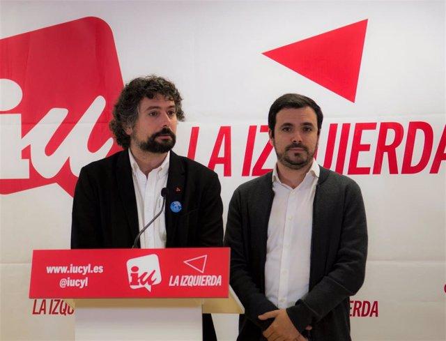 Valladolid.- José Sarrión y Alberto Garzón