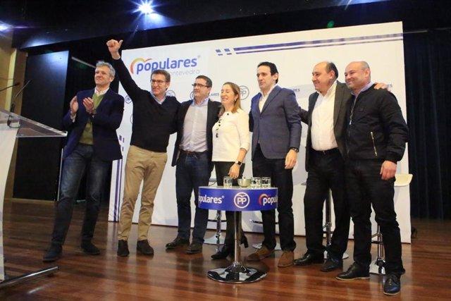 Presentación de los candidatos populares en la Comarca da Paradanta