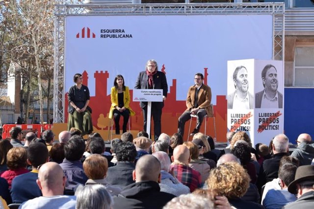 Jenn Díaz, Marta Vilalta, Joan Tardà, Isaac Albert (ERC)