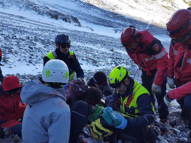 Rescate de un montañero en el Moncayo