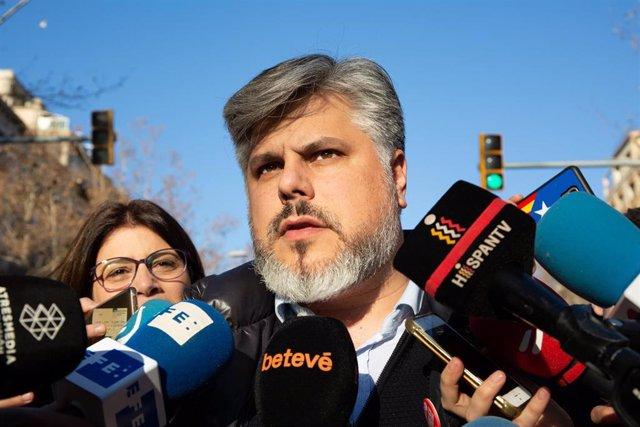 Protesta convocada por partidos y entidades soberanistas contra el juicio del 1-