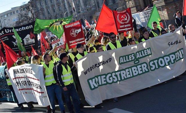 Manifestación contra la Conferencia de Seguridad de Múnich