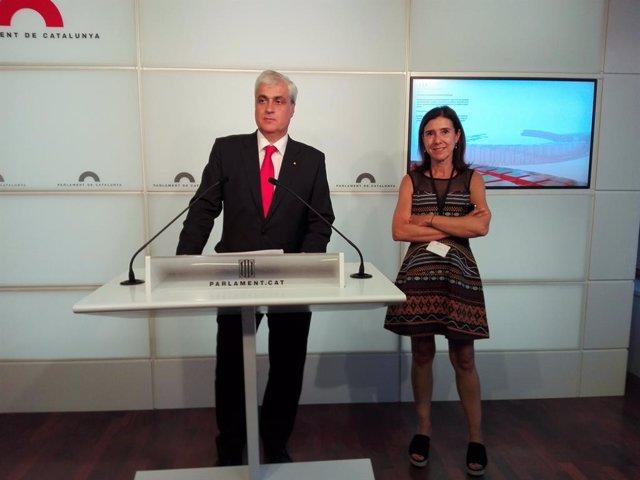El diputat Germ Gordó compareix davant la premsa en el Parlament/ARXIVO