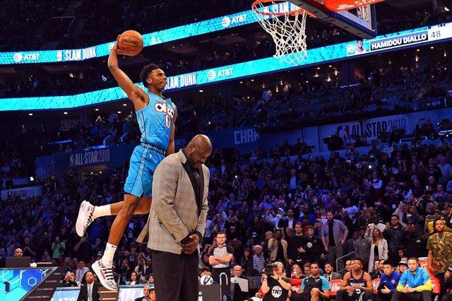 Escolta de Oklahoma City Thunder Hamidou Diallo concurso mates NBA All Star