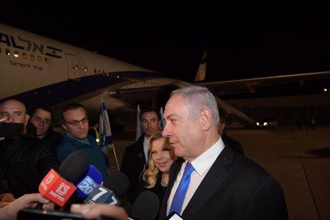Israeli Prevalgui Minister Benjamin Netanyahu travels to Poland