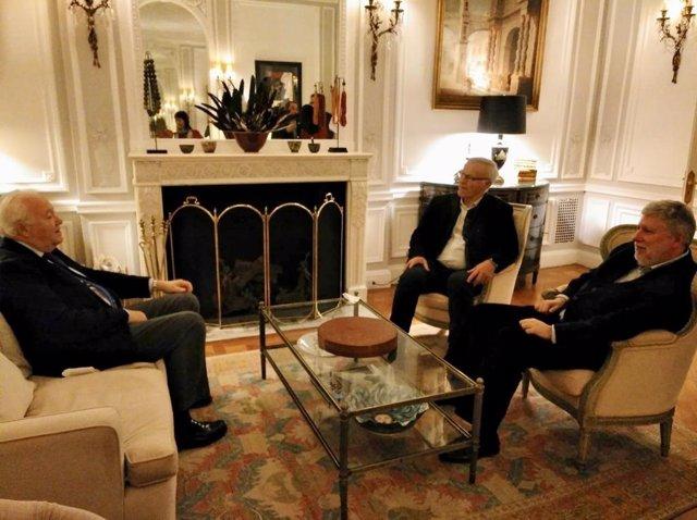 Joan Ribó se reúne con el embajador en Naciones Unidas, Agustín Santos Maraver