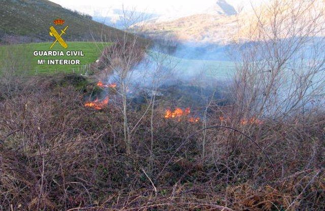 Incendio en el Monte Saja