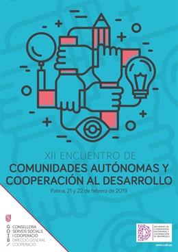 Cartell de la XII Trobada de Comunitats Autònomes i Cooperació pel Desarrol