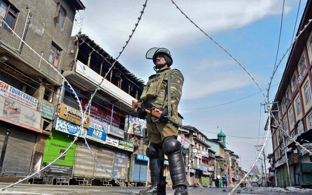 Huelga general en Cachemira en protesta por los ataques a cachemires en India