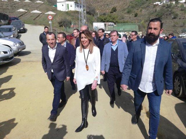 Susana Díaz en El Borge