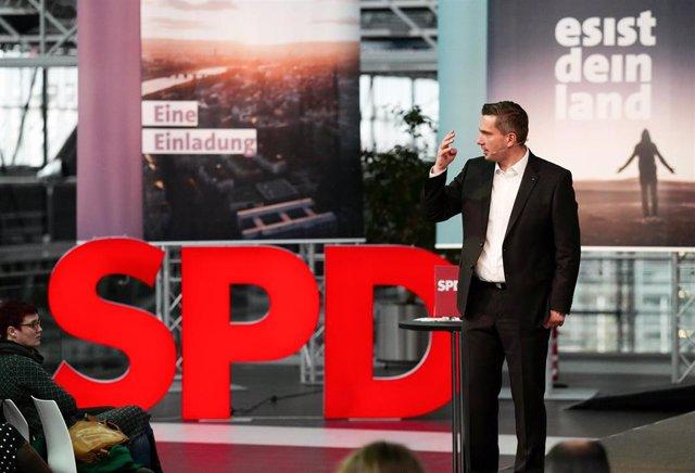 Acto del SPD en Sajonia, Alemania