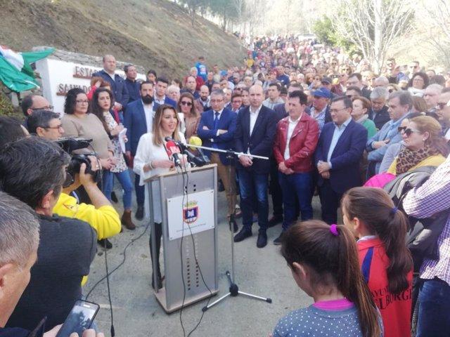Susana Díaz, Secretaria del PSOE-A en el Borge