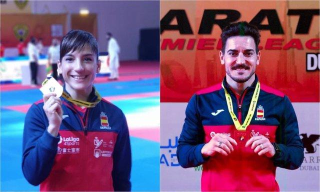Sandra Sánchez y Damián Quintero, oro y plata en la Premier League de Dubái