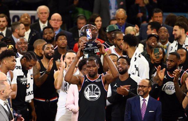 Kevin Durant gana el MVP del All Star de Charlotte