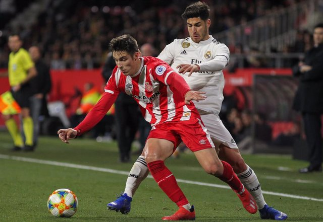 Jugadors del Reial Madrid i del Girona (arxiu)