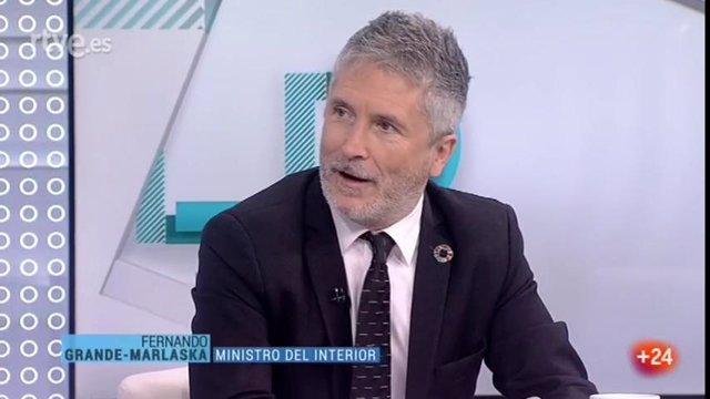 Grande-Marlaska es entrevistado en Los Desayunos de TVE